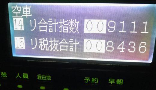 猛暑で超忙しい乗務は今回で一区切りか!?流しで久々に羽田に行った火曜日乗務【2018/07/24(火)の乗務記録】
