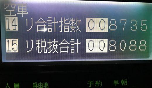 三連休明けの火曜日で苦戦覚悟だったが予想外にタクシー需要があった1日。景気よくなっているかも!?【2018/09/19(火)の乗務記録】