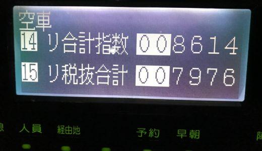 猛烈な台風でクタクタになった日曜日乗務。台風の中酔客が乗ってきた修羅場を乗り越えた1日!【2018/09/30(日)の乗務記録】
