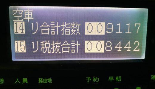 年末繁忙期突入。深夜のタクシー不足は凄かったが展開が悪くて苦しかった金曜日乗務【2018/11/30(金)の乗務記録】