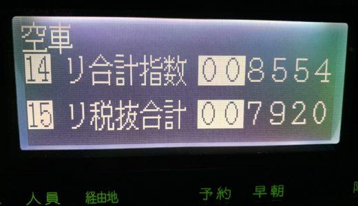2018年ラスト乗務。無事故無違反で無事に乗務を〆ることができました!【2018/12/30(日)の乗務記録】