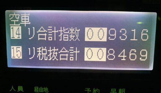 青タンで2連続ロングを引いて大挽回した火曜日乗務。昼間低調できつい展開【2019/12/03(火)の乗務記録】