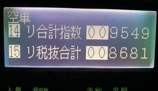 前回乗務の反動で高速案件が引けずにコツコツ上乗せしまくった月曜日乗務【2019/12/23(月)の乗務記録】
