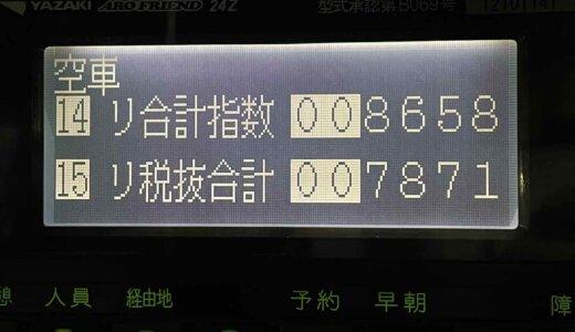 青タンにロング引けなかったが久々に忙しかった金曜日乗務【2021/10/08(金)の乗務記録】